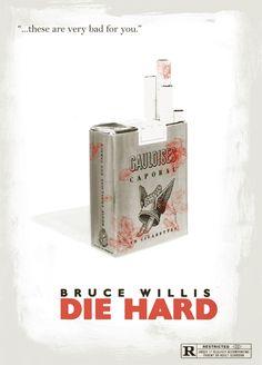 by Ridd Sorensen, Die Hard, minimalist movie poster