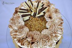 Tort cu crema caramel si crema de ciocolata cu cafea — Alina's Cuisine Creme Caramel, Caramel Apples, Nutella, Desserts, Whisky, Food, Backyard, Pies, Tailgate Desserts