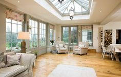 Awesome Roof Lantern Extension Ideas - The Urban Interior Garden Room Extensions, House Extensions, Kitchen Extensions, Kitchen Orangery, Conservatory Kitchen, Orangery Extension Kitchen, Orangerie Extension, Kitchen Dining Living, Room Kitchen