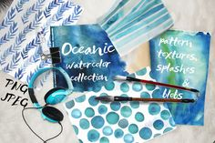 Oceanic watercolor collection! by holaholga on @creativemarket