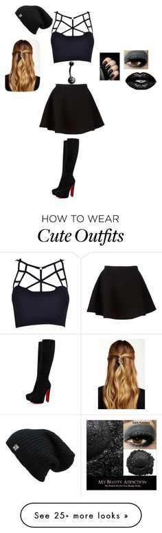 """""""Agent outfit"""" by liel-weberman on Polyvore featuring Neil Barrett, Bellybutton, Christian Louboutin and Natasha Accessories"""