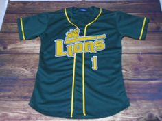 Have a look at this custom jersey designed by Lions Baseball and created at Athletic Center in Gonzales, LA! http://www.garbathletics.com/blog/lions-baseball-custom-jersey-2/ Create your own custom uniforms at www.garbathletics.com!
