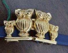 70s NOS Mimi Di N VIntage Belt Buckle Set.  Owl by FlanneryCrane, $20.00