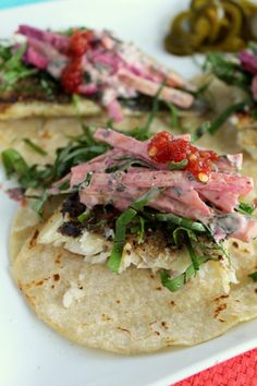 Fish tacos with beet slaw & Citrus Fennel Pollen Sea Salt via @Jazmine Coke #hgeats