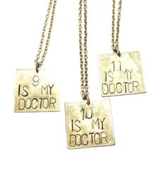 Doctor Who Metal-stamped Necklace by MidnightHouseElves on Etsy
