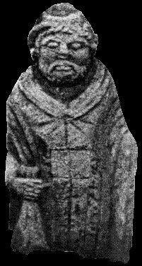 statue de Lezoux • 4543 • L'encyclopédie • L'Arbre Celtique  Possibly Esus; identified here with Mercury.