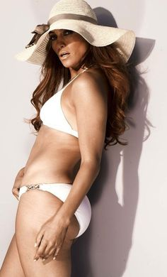 Jlo in a bikini without photoshop! She still looks good, I mean she's in her 40's
