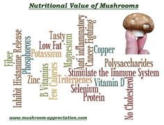 What is the real nutritional value of mushrooms? You may be surprised! Click here to find out what makes the mighty mushroom such a healthy food, and how to get the greatest benefit.