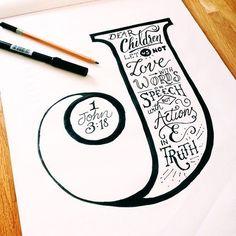 Resultado de imagem para i hand lettering