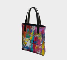 "Sac+""Sac+ou+sacoche+-+Artiste+peintre+multicolore++""+by+Julie+Lafaille+Création+ Julie, Ted, Creations, Tote Bag, Bags, Correspondence Cards, Tote Purse, Handbags, Totes"