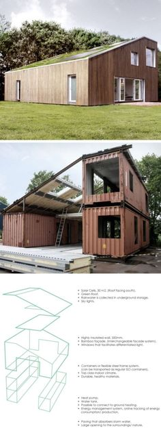 Shipping Container Home – Green Roof WFH : An innovative and eco-friendly design featuring Solar Cells on the south facing roof, rain water collection via underground storage, sky lights for more natural light. The design also has provisions for highly insulated walls, a bamboo facade, and window slots that facilitate differentiated light. This is a […]