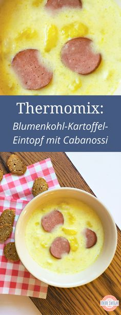 Lieblingsrezepte aus dem Thermomix Cauliflower soup Thermomix – a favorite soup for the whole family. Also as cauliflower soup vegan. Crock Pot Recipes, Beef Recipes, Soup Recipes, Vegan Recipes, Dessert Recipes, Cauliflower Soup, Roasted Cauliflower, Cauliflower Recipes, Vegetarian