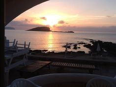 Stunning sunrise view from Zodiac Apartments in Es cana