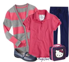 Adorable school uniform. Make sure to check out the other twenty that she put together. Your daughter will love them.
