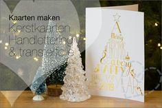Kaartjes maken #28: Kerstkaarten Handlettering met transferfolie Diy And Crafts, Arts And Crafts, Letters, Artwork, Blog, Inspiration, Beautiful, Stress, Group