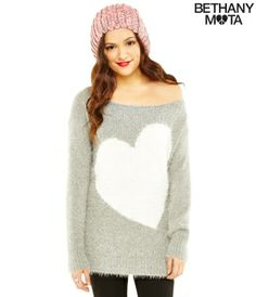 Fuzzy Heart Sweater from the Bethany Mota Collection! I love Beth's style!! <3