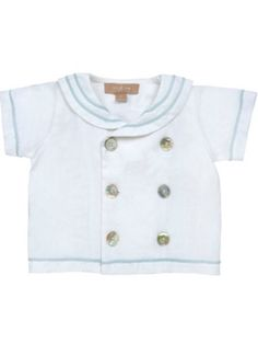 Monaco Sailor Shirt White - Little linens