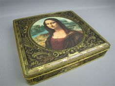 Vintage Parein tin marked Leonardo Da Vinci and Mona Lisa. This is an image from eBay but I have one my grandmother gave me.
