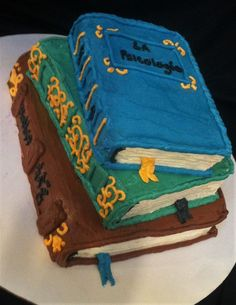 Book cake - no fondant, only buttercream frosting