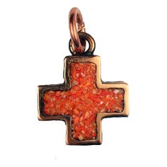 Custom made solid Bronze Cross With Spiny Oyster by OldWorldBronze, $75.00