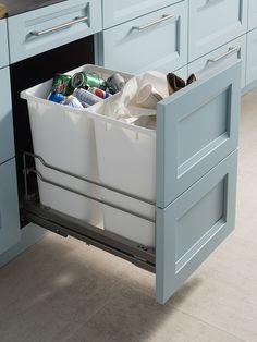 Double Waste Basket Cabinet | Wood-Mode | Fine Custom Cabinetry