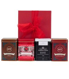 This gift of four Chocolate tea blends will be a hit with your Chocolate Lover! #Tea #Chocolate