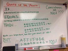 Attitude = 100%