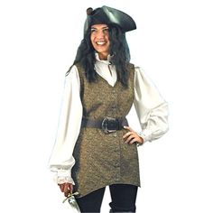 Pirate Clothing for Women  Mary Read Pirate Vest  LXL  Halloween Costume ** You can find more details by visiting the image link.