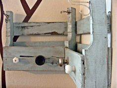 Custom Order Corner Coat Rack Shelf Made from Reclaimed Shipping Pallets. $165.00, via Etsy.