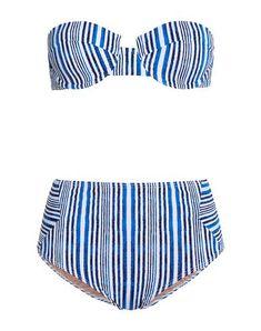 Synthetic jersey Two-tone No pockets set No appliqués Stretch Tart Collections, Blue Bikini, Bikinis, Swimwear, Beachwear, Women, Products, Style, Fashion
