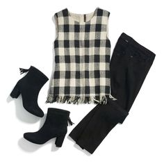 Evani, i would like these boots and fringe top