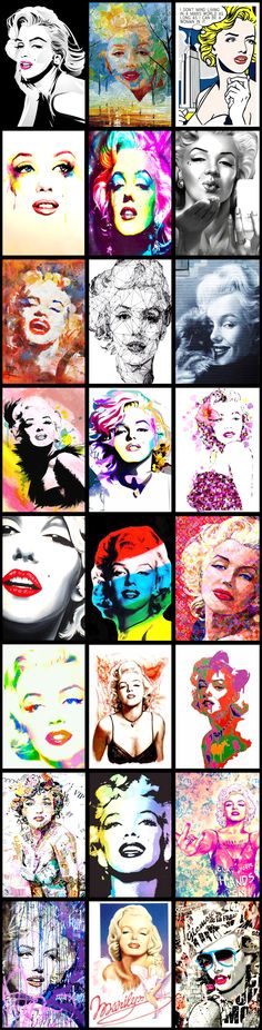 Marilyn Monroe Pop Art Collection ......