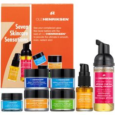 Ole Henriksen Seven Skincare Sensations!I use all of these products and all are  absolutely amazing!! My hunt for the perfect and affordable skincare (preventive and correction) product line is OVER!! AMAZING!!LOVE LOVE LOVE!!!