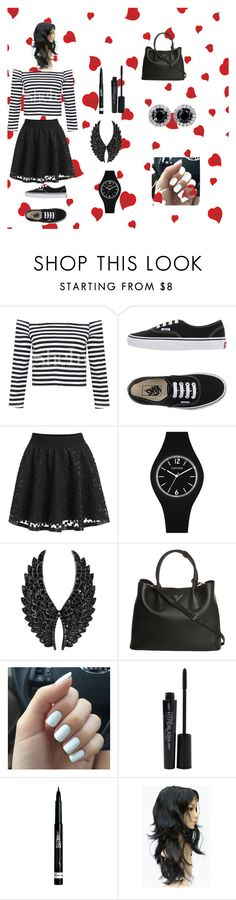 """Bez naslova #5"" by fatimka-becirovic ❤ liked on Polyvore featuring Vans, Plukka, Prada, Smashbox, Rimmel, women's clothing, women, female, woman and misses"