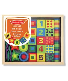 Buy Melissa and Doug Lacing Beads at Argos.co.uk - Your Online Shop for Arts, crafts and creative toys, Educational toys.