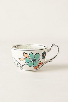Tea Cup Candle  #anthropologie @BethMarie Monica reminds me of what you made us all for christmas that one year!!