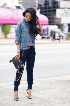 Женские брюки-джоггеры: с чем носить 60 фото-образов 2017