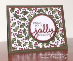 Holly Jolly Greetings, Christmas Greetings Thinlits, Stampin' Up!, Brian King, MM170