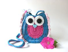 Owl Purse Bag Girls - via @Craftsy