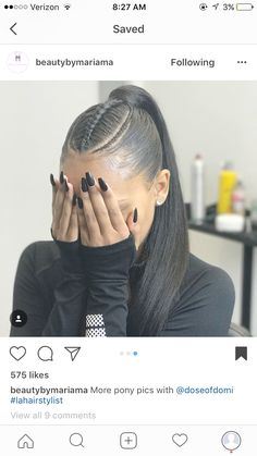 Hair Salons Near Me Dying not Hair Salon Riverside Square Mall Friseursalons in meiner Nähe Sterben Black Ponytail Hairstyles, Ponytail Styles, Baddie Hairstyles, Braided Hairstyles, Curly Hair Styles, Natural Hair Styles, Ponytails For Black Hair, Ponytail With Braiding Hair, Cute Hairstyles For Prom