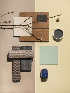 Mood Board Interior, Design Palette, Decor Inspiration, Collage, Japanese Interior, Interior Design Magazine, Colour Board, Home Decor Trends, Colour Schemes