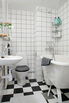 Badgestaltung Bad Ideen Badezimmer schwarz-weiß grauer raffiniert ... | {Bad design schwarz weiß 43}