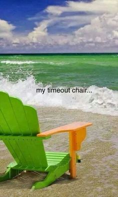 Beach - Time out chair Playa Beach, Beach Bum, Ocean Beach, Miami Beach, Beach Relax, Ocean Waves, Summer Beach, Time Out Chair, I Love The Beach