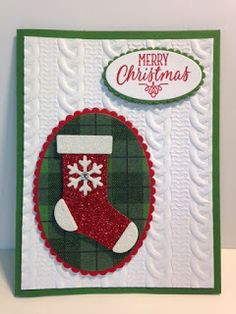 "Of all the cards I've made using the ""Stitched Stocking"" set and ""Christmas Stockings"" Thinlits die, this is my favorite so far.       Th..."