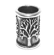 Sterling Silver Tree of Life Viking / Celtic Beard Bead Ring - dreadlock hair Viking Beard, Viking Helmet, Beard Decorations, Beard Rings, Beard Accessories, Beard Beads, Dreadlock Hairstyles, Hair Beads, Tattoos