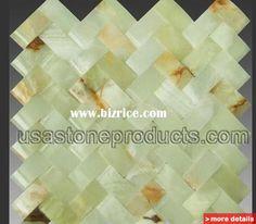 stone mosaics : green onyx mosaic tile 92 / United states Mosaics for sale from USA Stone Products Inc - Bizrice.com