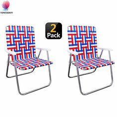@#! Webbed Folding Lawn Camp Chair Outdoor Portable Stool...