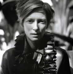 Tilda Swinton. Always is amazing outfit