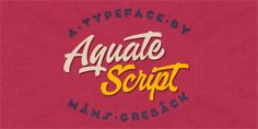 Aquate Script Font is a new stylish handmade calligraphy font by Mans Greback. This is a casual calligraphy style font which perfects for branding, a stylish & bold script font! Bold Script Font, Script Typeface, Creative Market Fonts, Font Creator, Hand Drawn Fonts, Free Fonts Download, Font Free, Brush Script, Handwriting Fonts