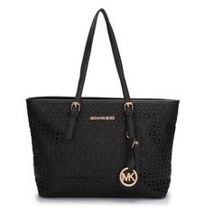 Biggest sale of the season. Michael Kors Perforated Metallic Logo Large Black Totes! Save up to 80% off.